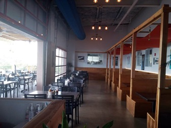 Inside dining at  the Old Salty Dog