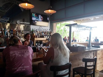 The bar area at the Old Salty Dog