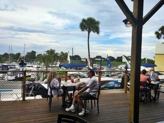 Outdoor deck at Old Salty Dog, Venice , FLA
