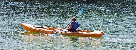 Kayaking on Lake Osprey in Oscar Scherer State Park in Osprey Florida