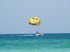 parasailing on the Gulf of Mexico in Sarasota Florida