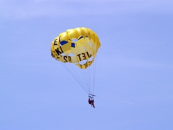 parasailing on the Gulf of Mexico in Sarasota Florida off of Siesta Key Beach