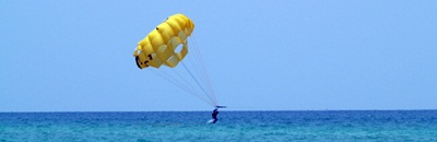 parasailing on the Gulf of Mexico in Siesta Key Florida