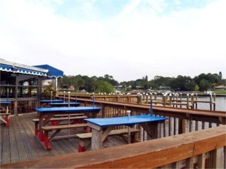 The outside deck at Phillippi Creek Restaurant