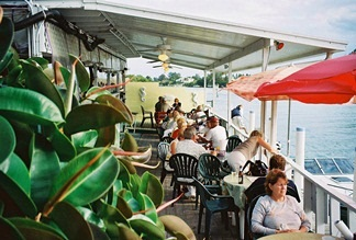 A view of the dining area at Pops Sunset Grill in Nokomis Florida
