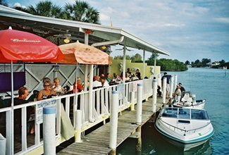 Dockside at Pops Sunset Grill in Nokomis Florida