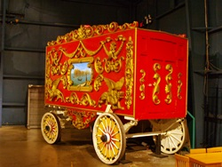 A circus wagon at The Ringling Circus Museum