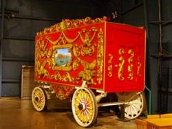 A circus wagon at The Ringling Circus Museum