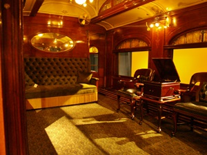 The Observation Platform on John Ringling's private train car at the Ringling Circus Museum