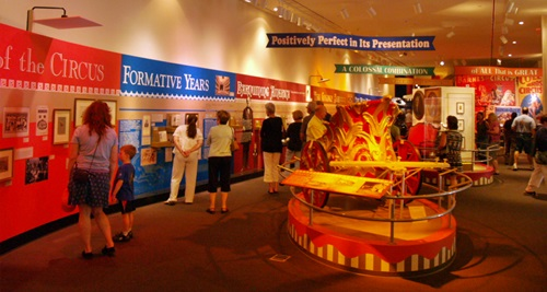 Timeline of circus history at the Ringling Circus Museum in Sarasota