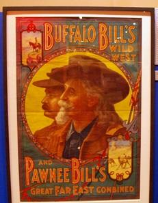 Poster of Buffalo Bill at Ringling Circus Museum