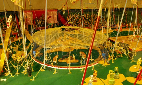 The Big Cats at the Circus Miniature Tents at the Ringling Circus Museum in Sarasota
