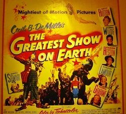 Poster of The Greatest SHow on Earth at the Ringling Circus Museum in sarasota, Florida