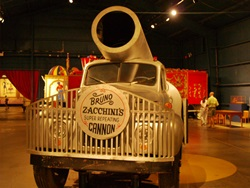 The human cannonball truck at the Ringling Circus Museum