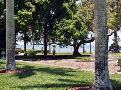 The Ringling Bayfron Gardens in Sarasota.