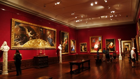 Renaissance Art on display in one of the Ringling Art Museum galleries