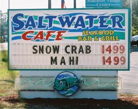 Saltwater Cafe near Sarasota Florida