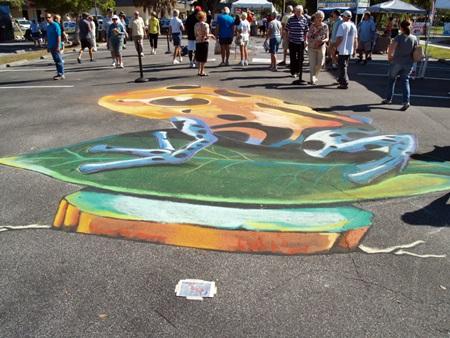 Sarasota Chalk Festival in Venice, Florida