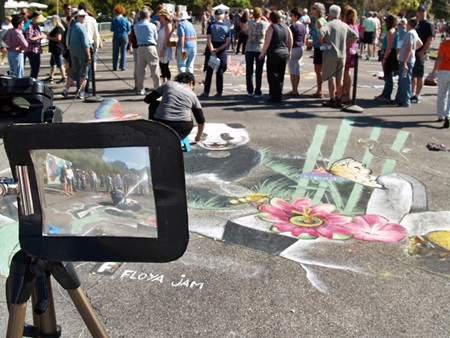 Beautiful pavement art at the Sarasota Chalk Festival