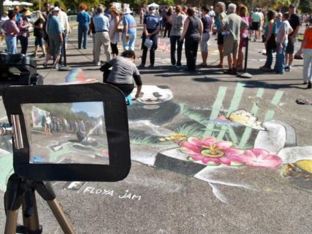 Beautiful pavement art at the Sarasota Chalk Festival
