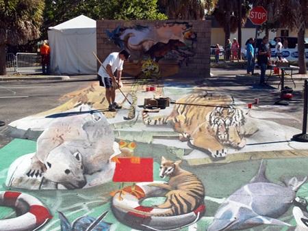 3-D Art at the Sarasota Chalk Festival