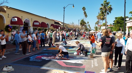 The Sarasota Chalk Fest in downtown Venice, FL