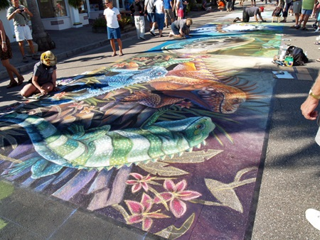 The Sarasota Chalk Fest brings out the street artists