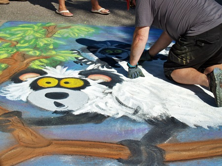 Scores of artists come out for the Sarasota Chalk Festival