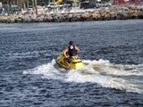Jet skiing at the Venice Jettty