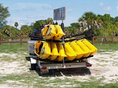 kayak rentals at Sarasota's Lido Key