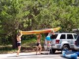 Kayak launch at South Lido Park Sarasota Florida