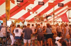 Sharks tooth Festival beer tent Venice Florida