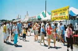 Food court at the Sharks Tooth Fest Venice Florida