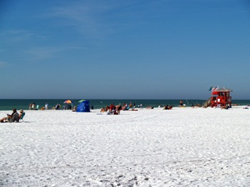 Looking out at Siesta Key Beach near Sarasota Florida