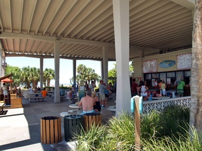 The pavilion at Siesta Key Beach