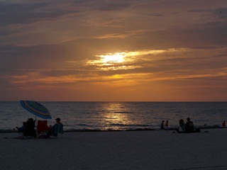 Sunset over Siesta Key Beach Sarasota Florida