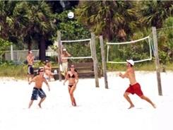 Volleyball on Siesta Key Beach Sarasota Florida