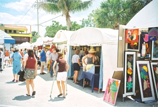 Siesta Fiesta artists display tents Sarasota Florida
