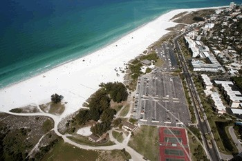 Siesta Key Beach Florida from the sky