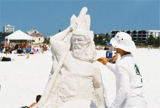 Siesta key Florida Sand Sculpture
