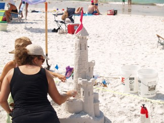 Siesta Key Beach Sarasota Florida Sand Sculpture