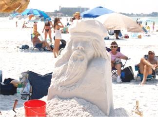 Siesta Key Beach Sand Sculptures