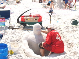 Siesta Beach Sand Sculpting Contest Sarasota Florida