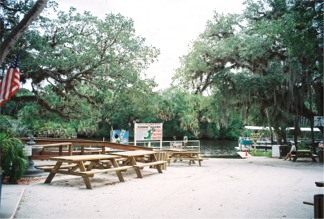 Picnic grounds area at Snook Haven