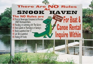 Snook Haven sign
