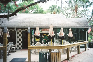 Front patio at Snook haven Retreat near Venice Florida