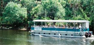 River boat guided tour at Snook Haven near Sarasota Florida