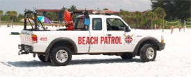 Beach Patrol on Siesta Beach Florida