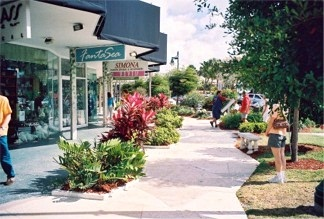 The shops on St Armands Circle