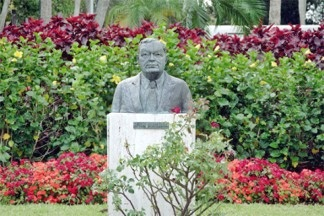John Ringling Bust on St Armands Circle Sarasota Florida